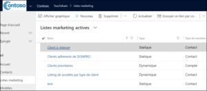 TD marketing lists